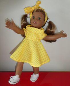 Robe imprimée jaune